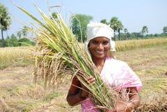 Weiblicher Landwirt lizenzfreie stockfotos