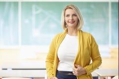 Weiblicher Lehrer im Klassenzimmer Lizenzfreies Stockbild