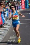 Weiblicher Marathonläufer Stockbild
