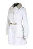 Weiblicher moderner Mantel stockbild