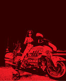 Weiblicher motorbiker Vektor pic