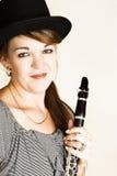 Weiblicher Musiker stockbild