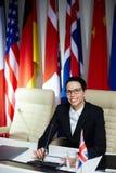 Weiblicher Politiker lizenzfreie stockfotografie