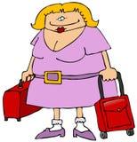 Weiblicher Reisender Stockfoto