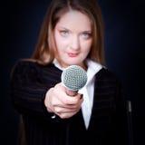 Weiblicher Reporter lizenzfreies stockfoto