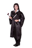 Weiblicher Richter in einem Kleid Stockbild