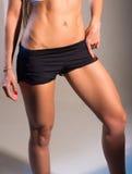 Weiblicher schlanker Bauch Stockbild
