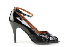 Weiblicher Schuh, getrennt auf Weiß Stockbild