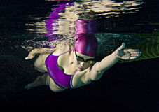 Weiblicher Schwimmer Stockbild