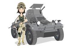 Weiblicher Soldat Stockfotografie
