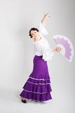 Weiblicher spanischer Flamencotänzer Lizenzfreie Stockbilder