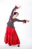 Weiblicher spanischer Flamencotänzer Stockfotos