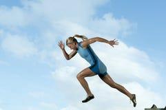 Weiblicher Sprinter Lizenzfreies Stockbild