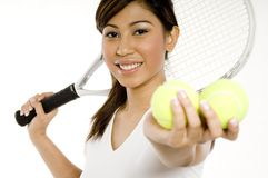 Weiblicher Tennis-Spieler Lizenzfreie Stockfotos
