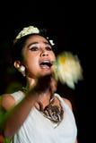 Weiblicher traditioneller Musiker und Sänger. Lizenzfreie Stockfotos