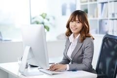 Weiblicher Unternehmensleiter stockbilder