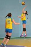 Weiblicher Volleyball in Ukraine Lizenzfreies Stockbild