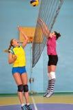 Weiblicher Volleyball in Ukraine Stockbilder