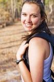 Weiblicher Wanderer Stockfoto