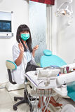 Weiblicher Zahnarzt Lizenzfreie Stockfotografie