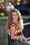 Weibliches Abiturient-Portrait Lizenzfreies Stockfoto