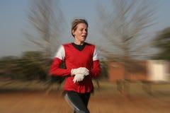 Weibliches Athletentraining lizenzfreie stockbilder