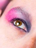 Weibliches Auge mit bilden Stockfoto