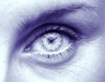 Weibliches Auge mit Ziffernblatt Lizenzfreie Stockfotografie