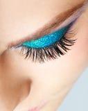 Weibliches Augenzonenmake-up Stockfotos