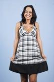 Weibliches Baumuster der Jugend im Sommerkleid Lizenzfreie Stockfotos