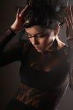 Weibliches Baumuster der Schönheit stellte das headwear gerade ein Lizenzfreie Stockfotografie