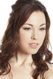 Weibliches Brunettebraut-Porträtlächeln Lizenzfreies Stockfoto