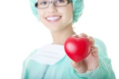 Weibliches Doktor- oder Krankenschwesterholdinginneres lizenzfreie stockfotografie