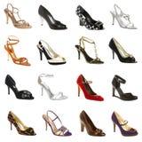 Weibliches footwea Stockbild