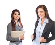 Weibliches Geschäfts-Team getrennt auf Weiß Lizenzfreies Stockbild
