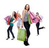 Weibliches Gruppenlächeln der Schönheit Lizenzfreies Stockfoto