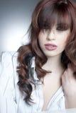 Weibliches Headshot-Studio lizenzfreie stockfotografie