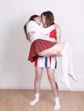 Weibliches Liebhaberküssen Stockfotografie