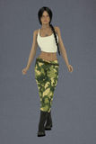 Weibliches Lin die Armee Lizenzfreie Stockfotografie