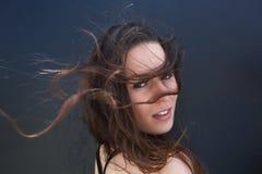 Weibliches Mode-Modell mit dem Haarschlag Lizenzfreie Stockfotografie