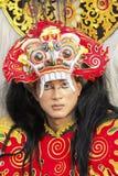 Weibliches Modell am Jember-Festival Carnaval Stockfoto