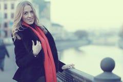 Weibliches Portrait in den kalten Tönen Stockbilder