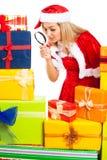 Weibliches Sankt-erforschenweihnachtsgeschenk Lizenzfreie Stockfotos