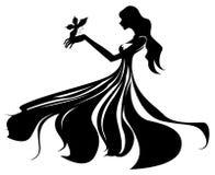 Weibliches Schattenbild stock abbildung