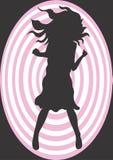 Weibliches Schattenbild Stockbild