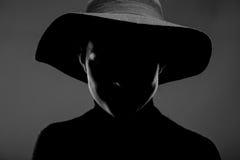 Weibliches Schattenbildporträt Lizenzfreie Stockbilder
