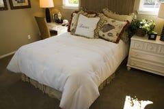 Weibliches Schlafzimmer Stockfoto