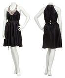 Weibliches schwarzes Kleid auf Mannequin Stockfotografie