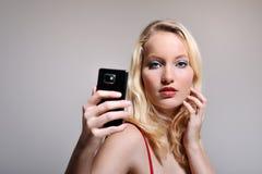 Weibliches selfie Stockfoto