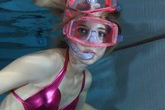 Weibliches snorkeler Lizenzfreies Stockbild